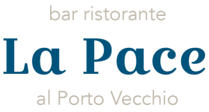 Logo del Ristorante La Pace vista lago di Garda a Malcesine